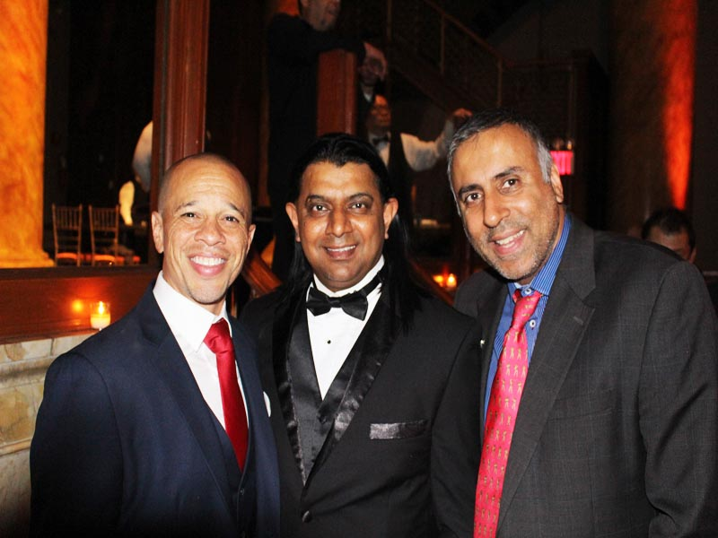 R-L Dr.Abbey with Shekhar Rahate Desiger and Ryan Long Founder Global Unity Foundation