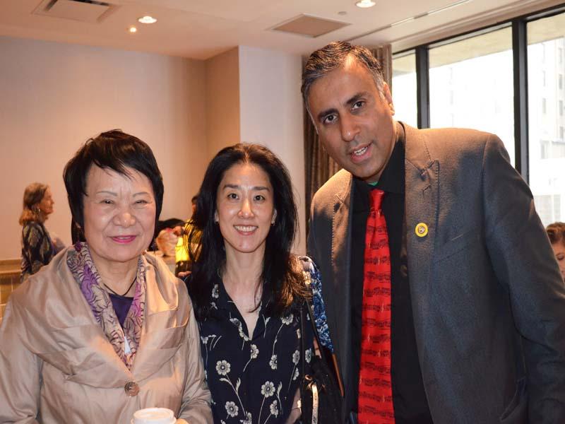 R-L Kwang Hae Kim Founder KAFSC with Bomsinae Kim Exec Dir & Dr.Abbey