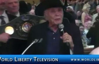 "Jake ""Raging Bull"" LaMotta, Former World Middleweight Boxing Champion, Inducted to the NYS Boxing Hall of Fame 2012"