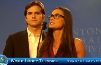 Ashton Kutcher  and  Demi Moore's Sex Trafficking Speech at CGI 2011
