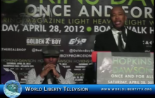 Bernard Hopkins vs. Chad Dawson, World Light Heavyweight Boxing Championship New York Press Conference 2012