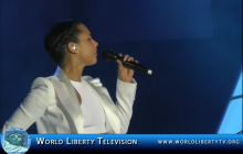 Alicia Keys' Live Performance of Her Song 'It's a New Day' at The Monster Concert in Las Vegas – 2013