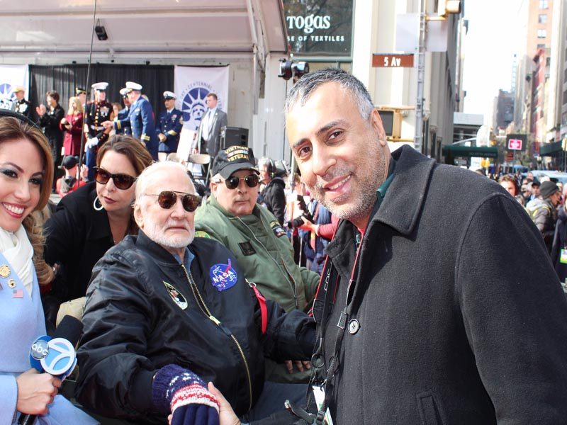 Dr Abbey with Buzz Aldrin former astronaut and fighter pilot.