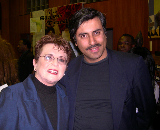Dr.Abbey with Billie Jean king Tennis Great