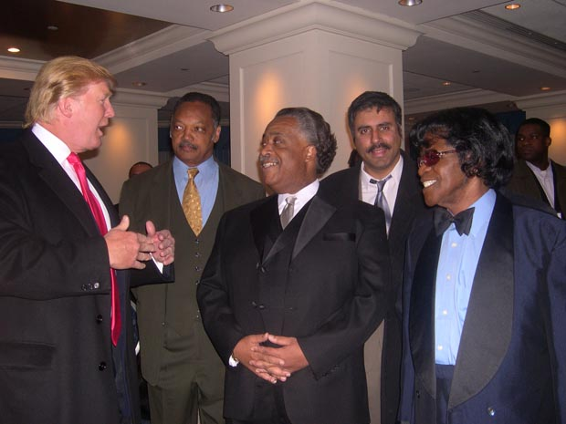 Dr.Abbey with Donald trump Jessie Jackson Al Sharpton & James Brown