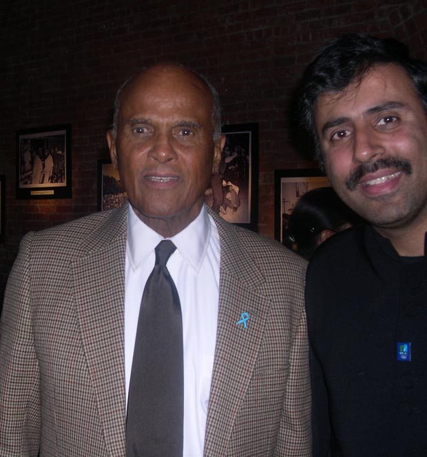 Dr.Abbey with  Harry Belafonte