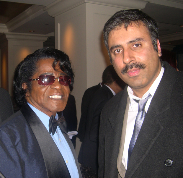 Dr.Abbey with James Brown King of Soul