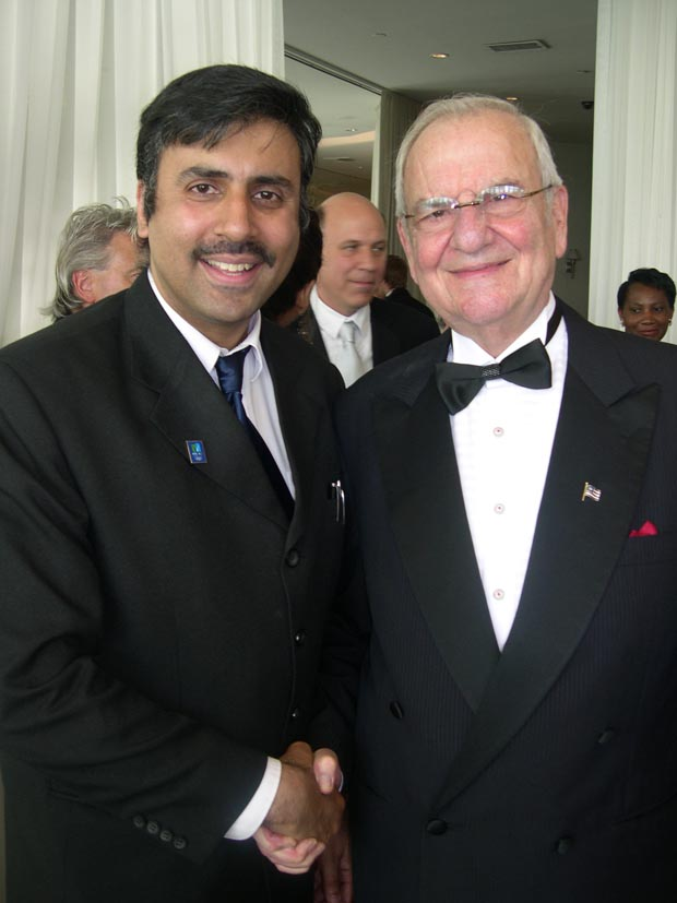 Dr.Abbey with  Lee a Iococca Former Chairman  of Chrysler