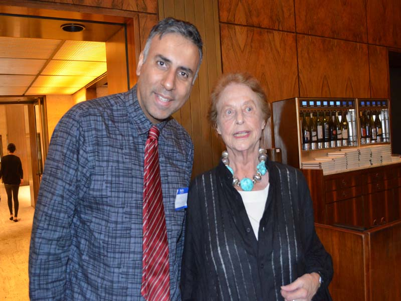 Dr.Abbey with Mimi Sheraton NY Time Food Critic