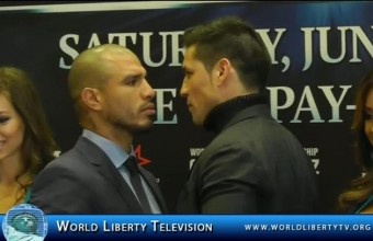 MIGUEL COTTO AND SERGIO MARTÍNEZ WORLD MIDDLEWEIGHT CHAMPIONSHIP NYC Press Conference at MSG 3/11/14