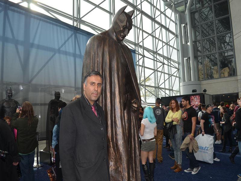 Dr.Abbey with Batman Bronze Sculpture