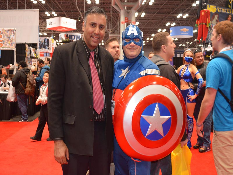 Dr.Abbey with Captaian America