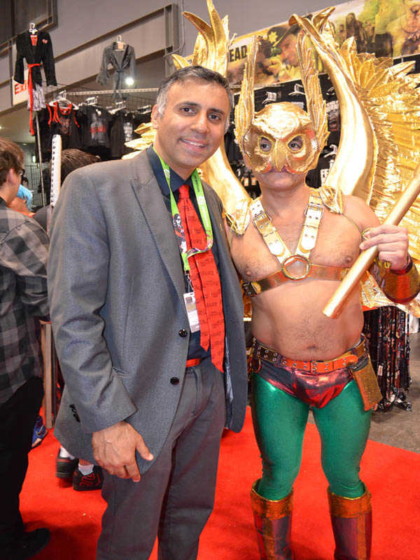 Dr.Abbey with Gold Hawkman