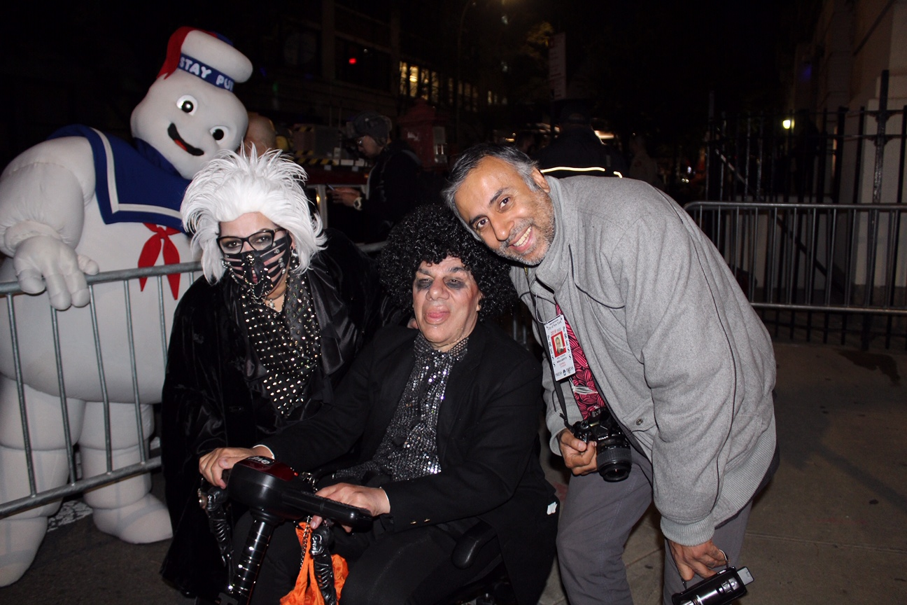 Dr.Abbey with Guests dressed in their Halloween outfits