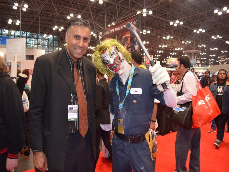 Dr.Abbey with Joe The Garage Mechanic