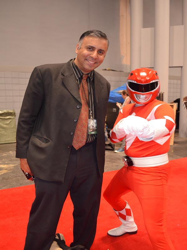 Dr.Abbey with Power Ranger