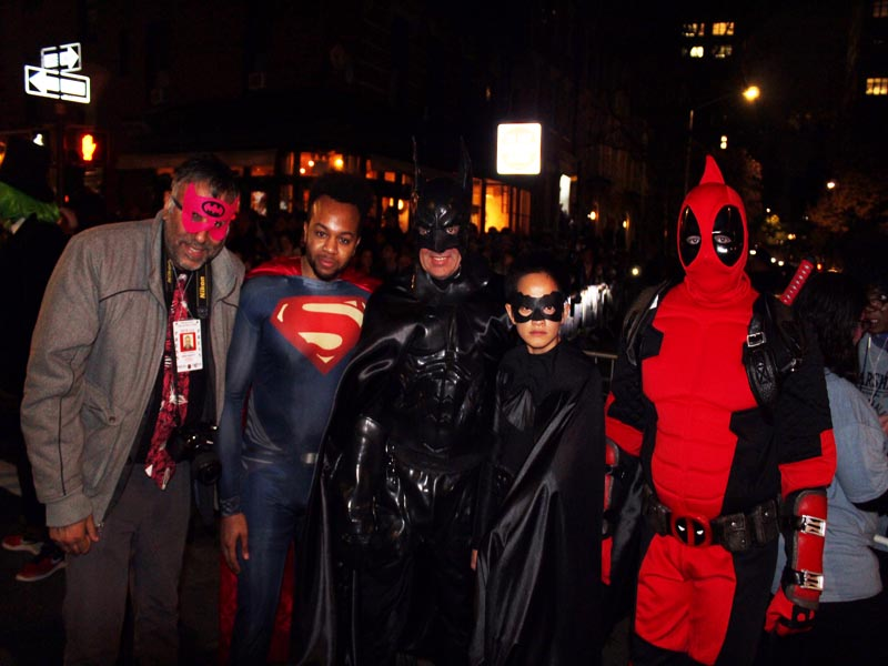 Dr.Abbey with Super heros