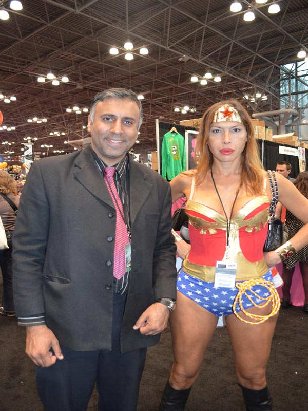Dr.Abbey with Wonder Woman 2