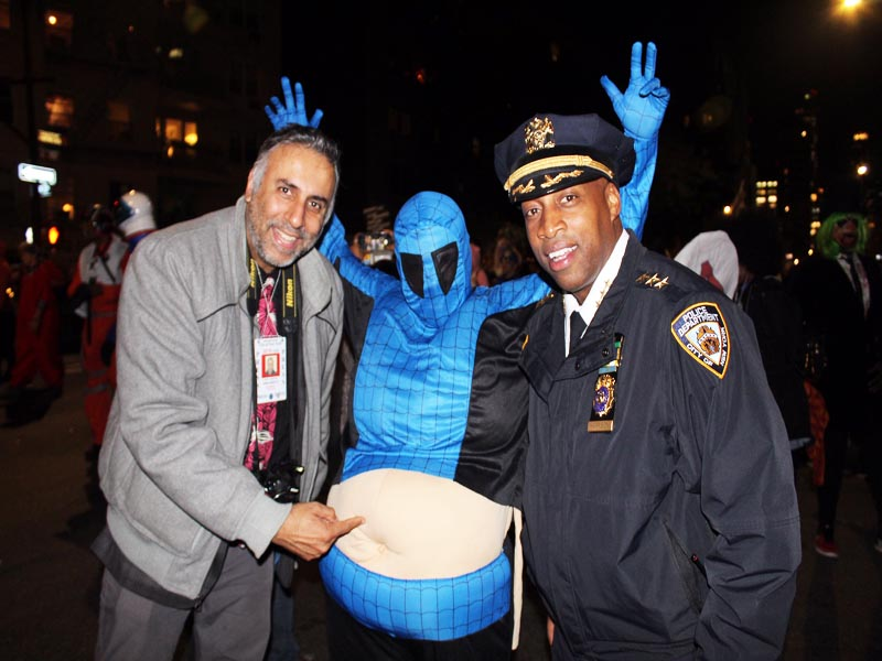 L-R Dr.Abbey with Big Belly & Chief of Patrol NYPD Rodney Harrison