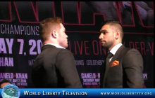 Canelo vs Khan World Middleweight Boxing Championship NY Press Conference -2016