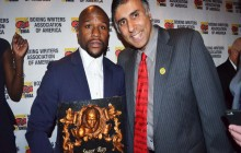 Floyd Mayweather Boxing Great Receives his 3rd Boxing Writers Association of America Award-2016