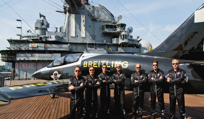 Breitling Jet Team  Celebrates  Fleet  Week NY at Intrepid Sea, Air and  Space Museum-2016