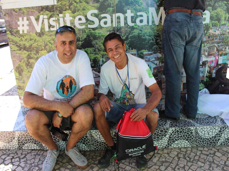 Dr.Abbey with Elias Tour Guide For Santa Martha Favela Rio Brazil