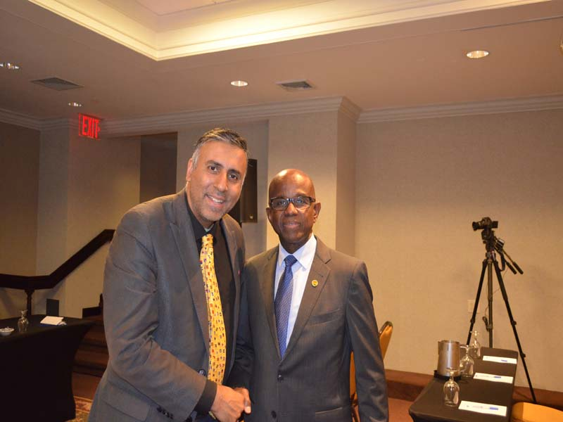 Dr.Abbey with Hugh Riley Secretary General  of Caribbean Tourist Organization