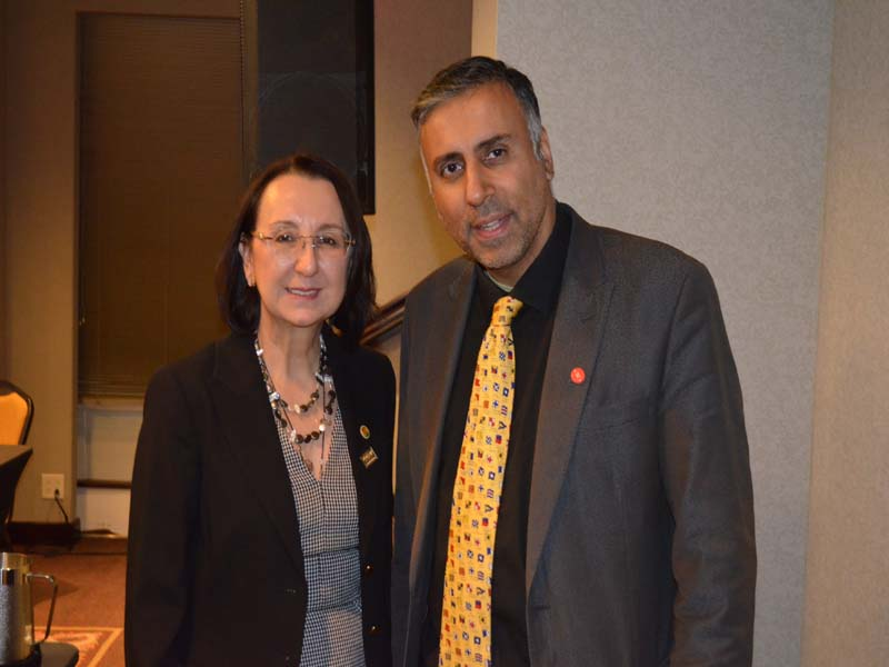 Dr.Abbey with Karolin G. Troubetzkoy President Caribbean Hotel & Tourism Association