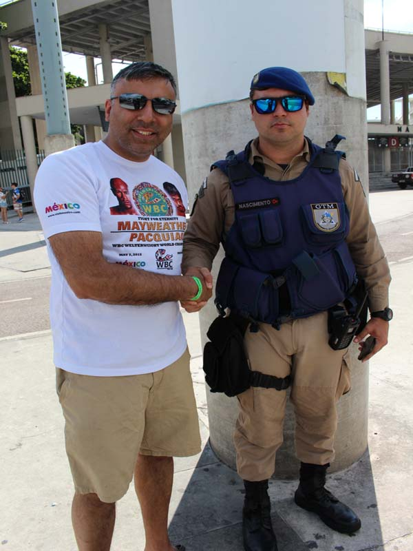 Dr.Abbey with Police officer from Rio