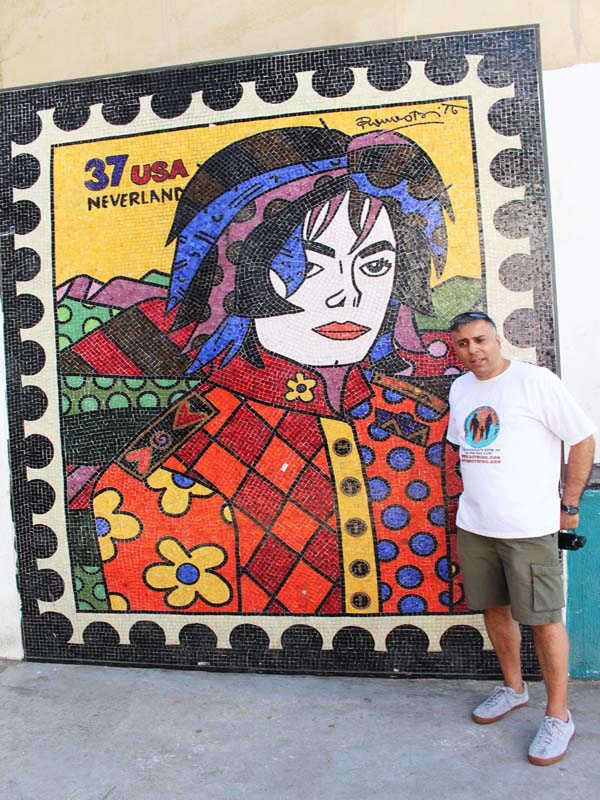 Dr.Abbey with a Murial of Michael Jackson @ Santa Marta Favela in Rio Brazil