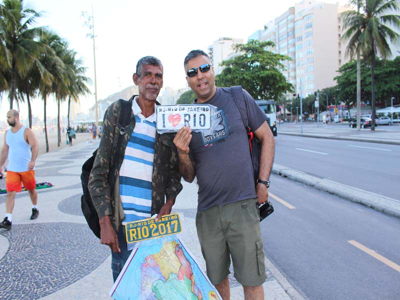 On The Ipanema Beach with I Love Rio Vendor Rio Brazil