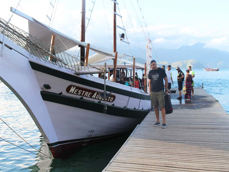 Our Tour Boat at Angra dos Reis  Tour Rio Brazil