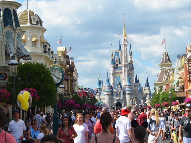 Thousands in attendance at Disney Magic Kingdom