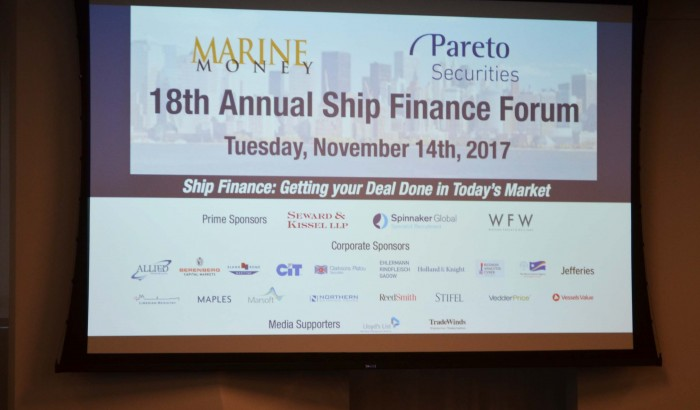 Marine Money's  18th Annual Ship Finance Forum 2017-NYC