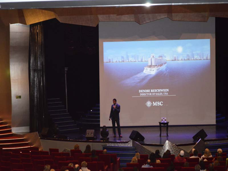 Pantheon Theatre at MSC Cruise Liner