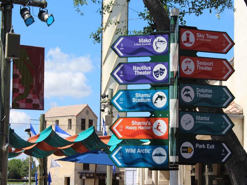 Many rides at seaworld Orlando