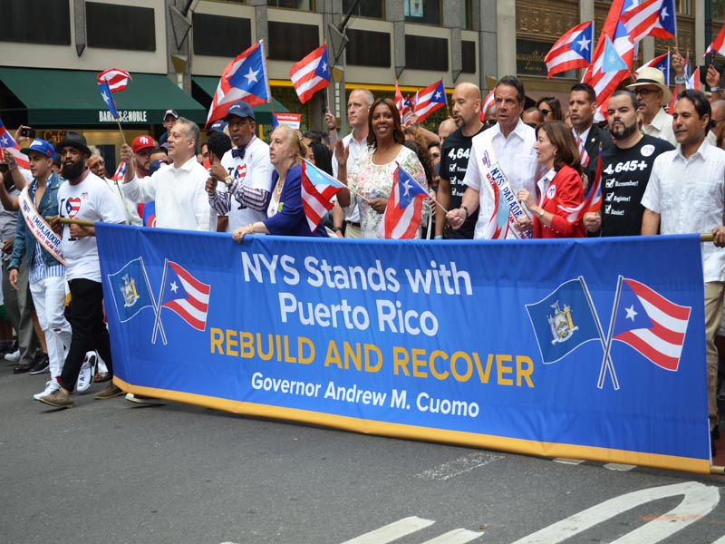 Marching in Puerto Rican Parade 2018