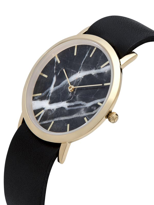 Marble watch with Black Strap