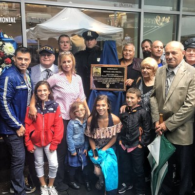 Family of slain officer Melchiona