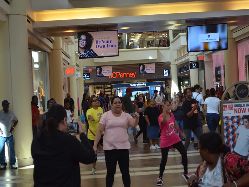 Shoppers at Bay Plaza Mall