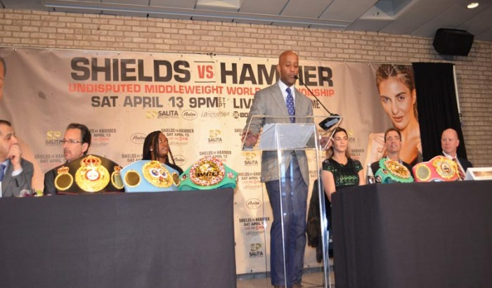 Claressa  Sheilds vs. Christina Hammer NY Press Conf  for Undisputed Middleweight belts