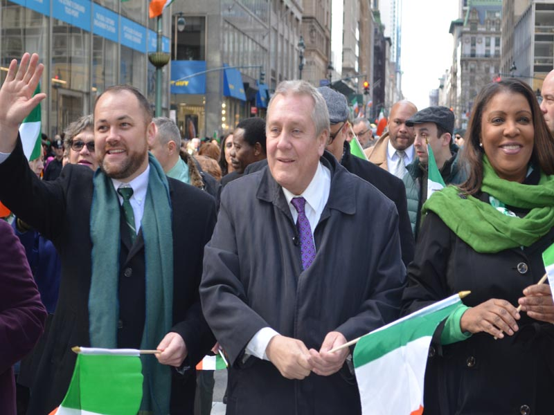 Politicians Marching in St Patrick's day Parade