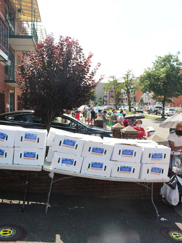 Close to 300 food boxes given out by United Sherpa Association USA Inc