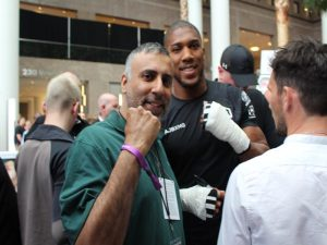 Dr Abbey with Anthony Joshua World Heavyweight Champion Protesting in London for George Floyd killing