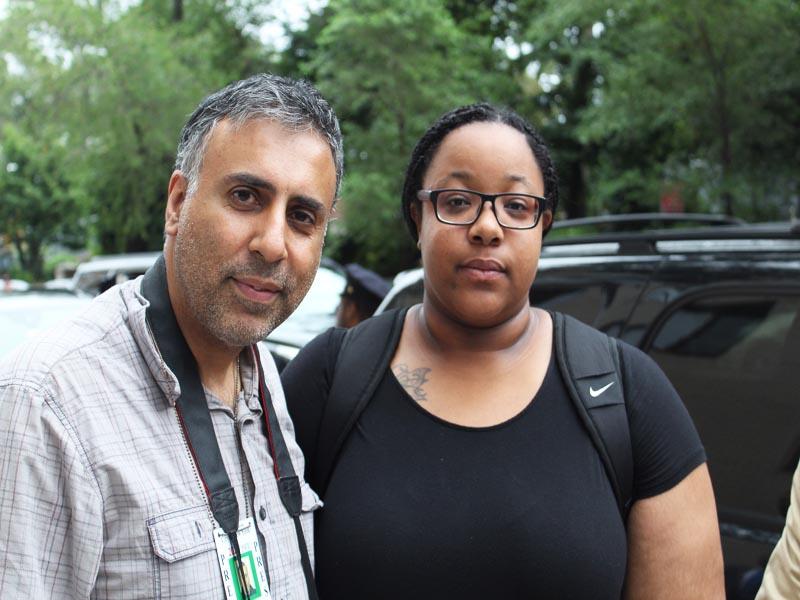 Dr Abbey with Emerald Garner Snipes Daughter of Eric Garner