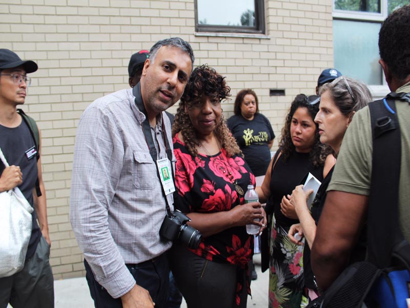 Dr Abbey with Eric Garner's mother, Gwen Carr who's son was killed by police officer in NY