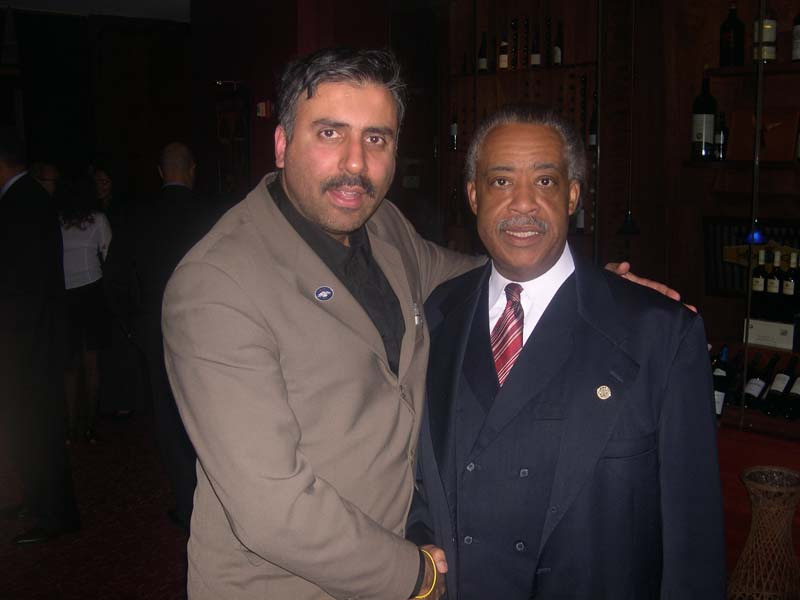 Dr.Abbey Muneer with Rev Al Sharpton Delivering the Eulogy at George Floyds Funeral