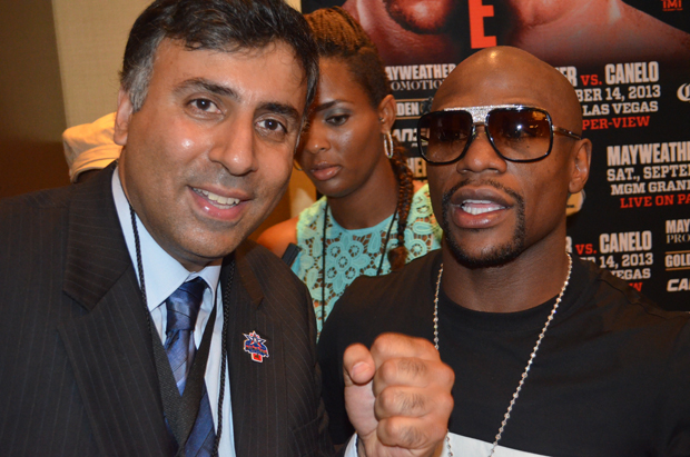 Dr.Abbey with boxing Great Floyd Money Mayweather who paid for George Floyd's Funeral Costs