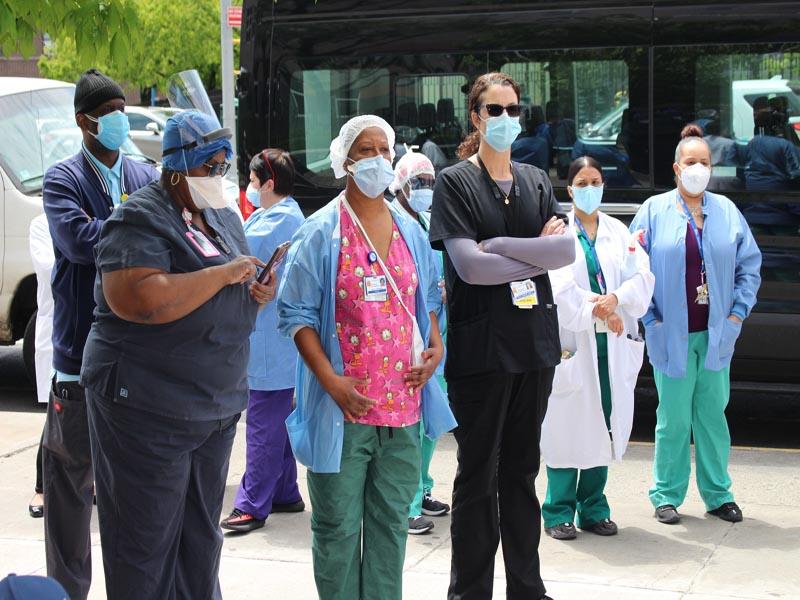 Elmhurst Hospital Essentail workers